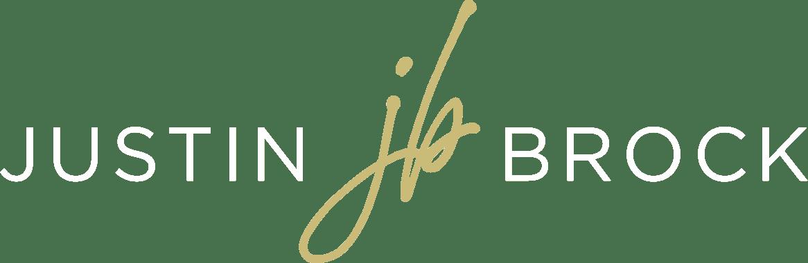 Justin Brock JB Logo White